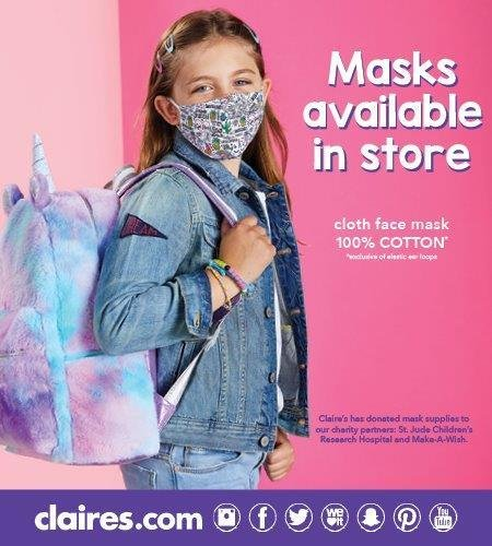 Face masks available in-store