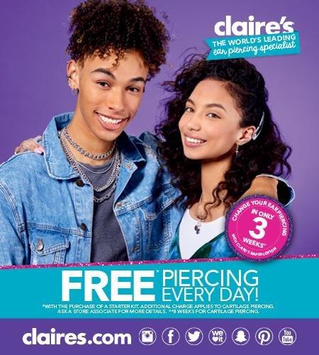 Free ear piercing