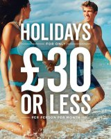 Holidays from only £30 per person per month