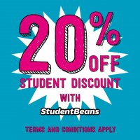 20% discount with Student Beans